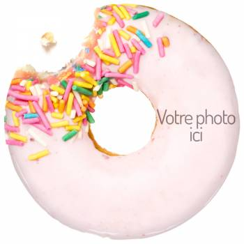 Disque sucre pour gâteau personnalisé Donuts
