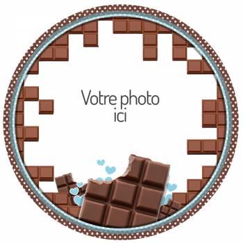 Disque sucre pour gâteau personnalisé Chocolat