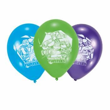 6 Ballons Tortues Ninja