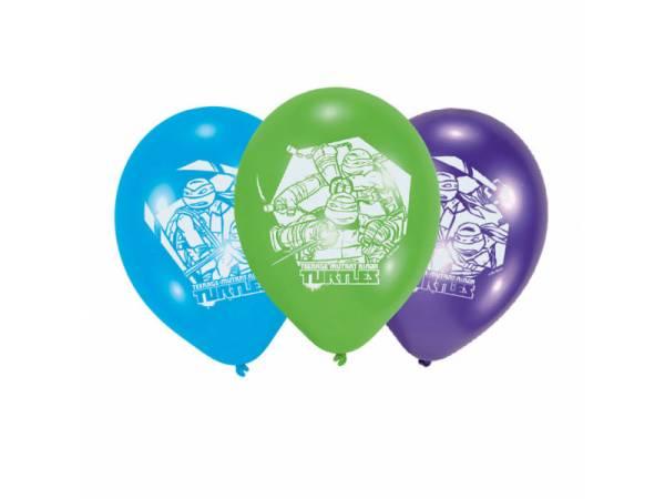 Ballons latex h lium th me tortues ninja deco anniversaire - Tortu ninja nom ...