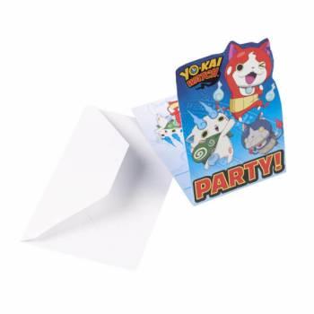 8 Cartes invitations Yo kai watch