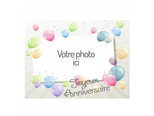 Feuille azyme sucre rectangle A4 personnalisé décor Ballons- Deco gâteau