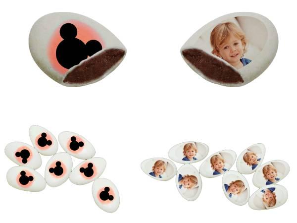 110 Dragées chocolat à personnaliser mickey rouge photo