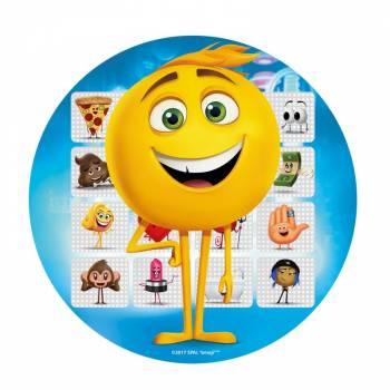 Disque azyme Emoji bleu 20cm