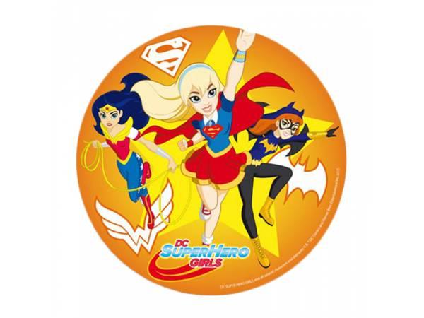 Disque azyme Super Héros girl jaune