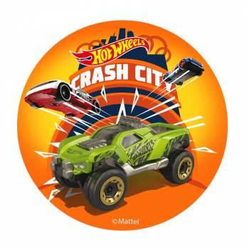 Disque azyme Hot Wheels crash city 20cm