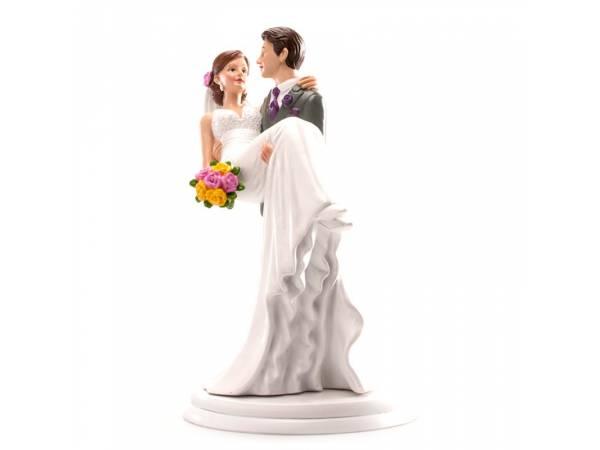 Couple de mariés portée 20cm