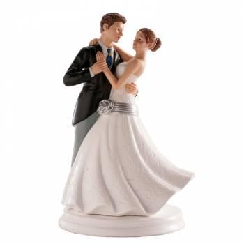 Figurine Couple de mariés dansant 20cm