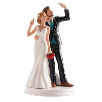 Figurine mariés selfie 20cm