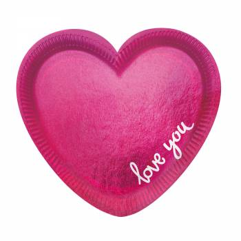 6 Assiettes Coeur love