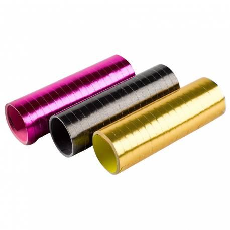 Assortiment de 3 Serpentins métallisés or, fuschia et noir
