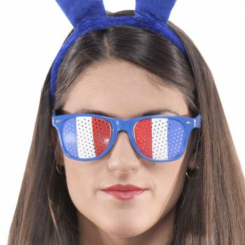 Lunette supporter tricolore France