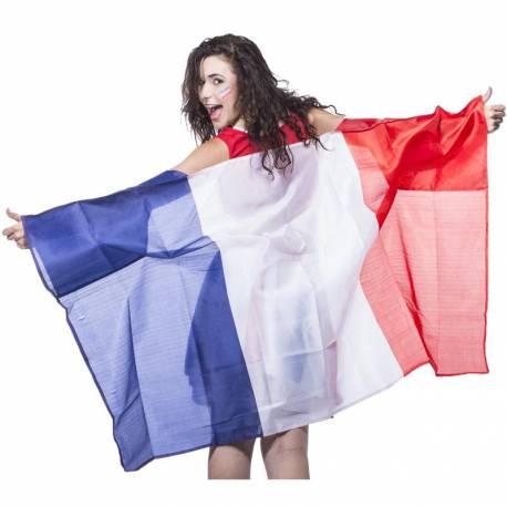 Adoptez un total look coupe du monde avec ce Poncho en polyester aux couleurs du drapeau français Dimensions : 90x150cm