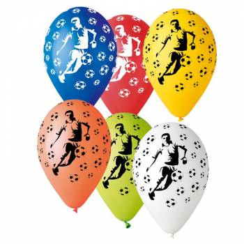 10 Ballons multicolore football