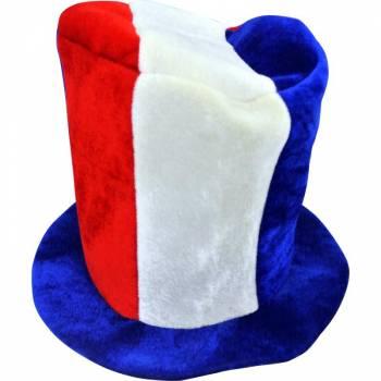 Chapeau haut de forme tricolore france