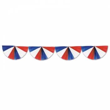 Guirlande pavillon éventail tricolore