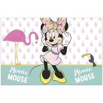 Nappe en plastique Minnie Tropical