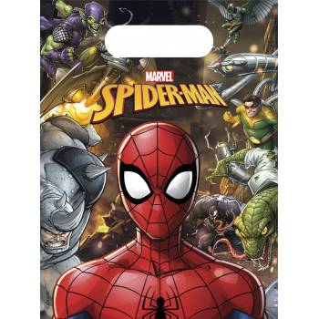 6 Sachets de fête Spiderman team up