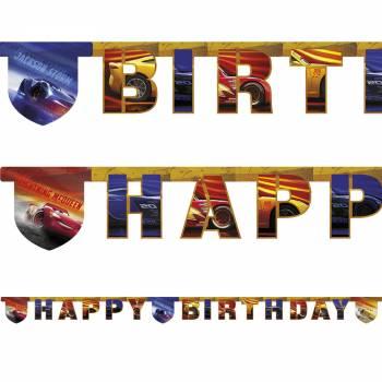 Guirlande Happy birthday Cars legend