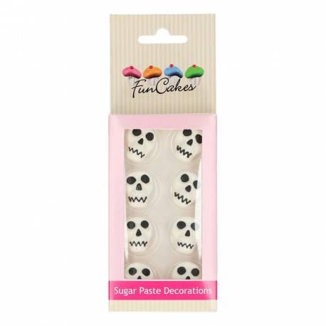 D'effrayantes têtes de mort en sucre, excellentes pour la décoration de cupcakes, biscuits et gâteaux. Ce lot contient 8 têtesTaille :...