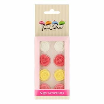 Décors en sure Funcakes roses en boutons