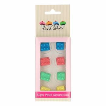 Décors pâte à sucre Funcakes brique jouets