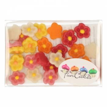 30 Petites fleurs en pâte d'amandes Funcakes