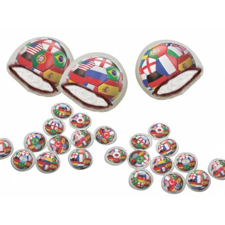 Les chamachocs sont de delicieux bonbons dragéifiés illustrés fourrés à la guimauve et enrobées de chocolat. Paquets de 120 chamachocs...