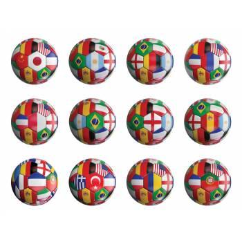 12 Mini disques en sucre Coupe du monde