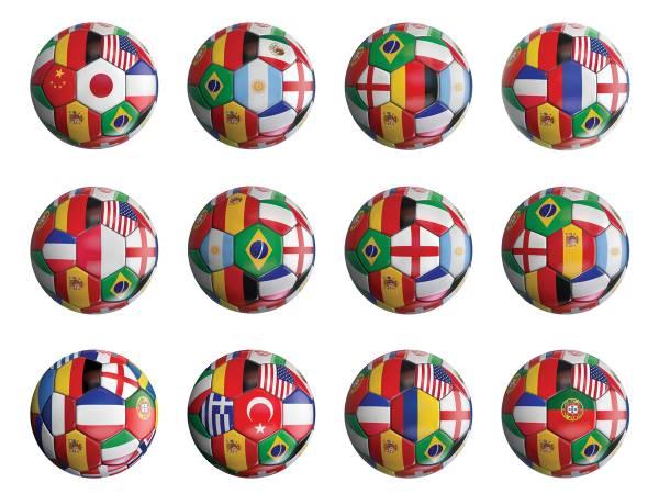Mini disques en sucre pour cupcakes Coupe du Monde