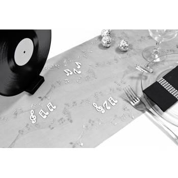 Chemin de table jetable noire la musique