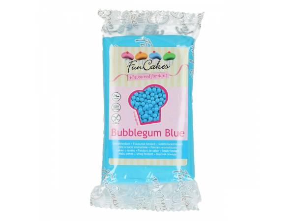 Deco de gâteau- Pâte à sucre aromatisée chewing gum bleu Funcakes