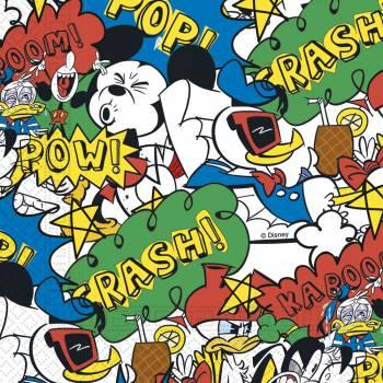 20 Serviettes Mickey cool