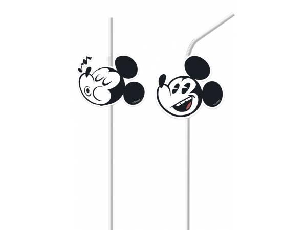 Pailles de fête en plastique Mickey cool