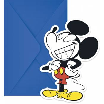 6 cartes invitations Mickey cool