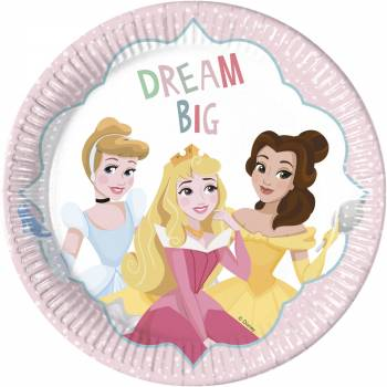 8 Assiettes Princesse Disney rêves