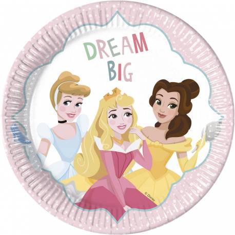 8 Assiettes Princesse Disney rêves