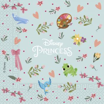 20 Serviettes Princesse Disney rêves