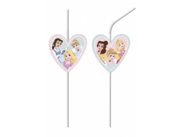 Pailles de fête en plastique Princesse Disney rêves