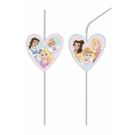 6 Pailles Princesse Disney rêves