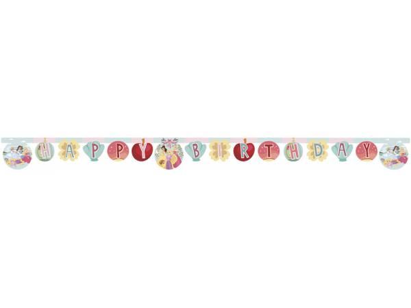 Banderole Happy Birthday Princesse Disney rêves