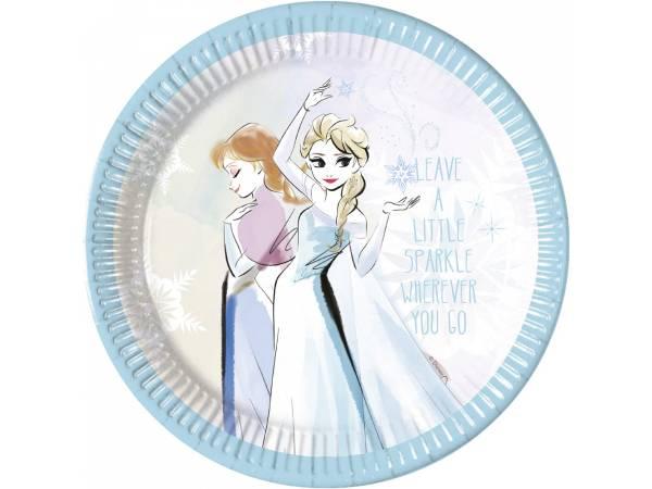 Assiettes La Reine des Neiges sparkle