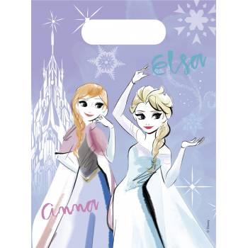 6 Sachets de fête La Reine des Neiges sparkle