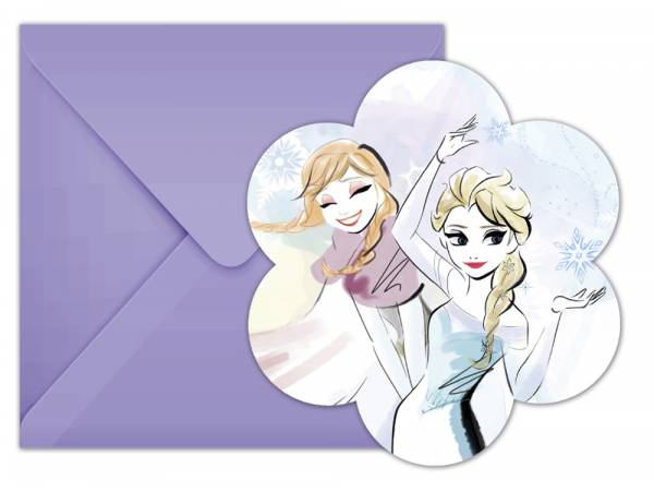 cartes invitations La Reine des Neiges sparkle