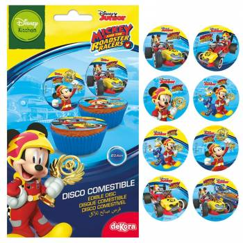 16 Mini disques en sucre Mickey