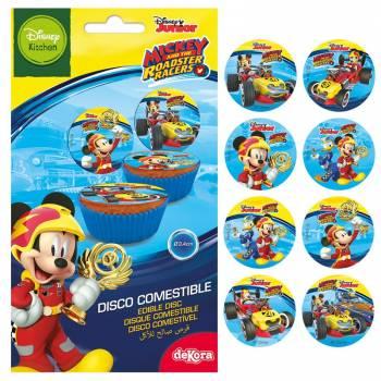 12 Mini disques en sucre Mickey
