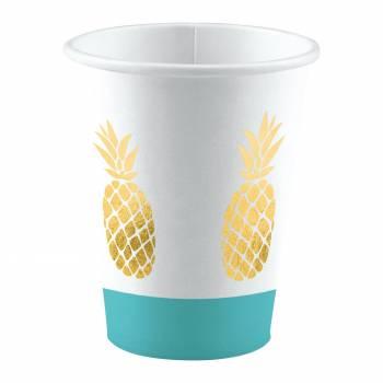 8 Gobelets ananas