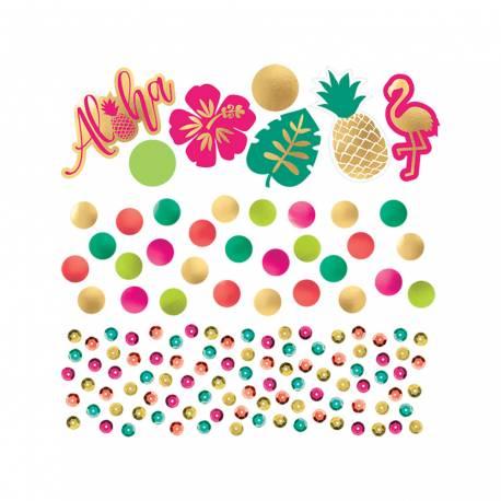 Confettis de table métallisés à parsemer sur vos buffets et tables estivales