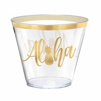30 verres en plastique Aloha