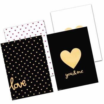 4 Sahets papier Love everiday